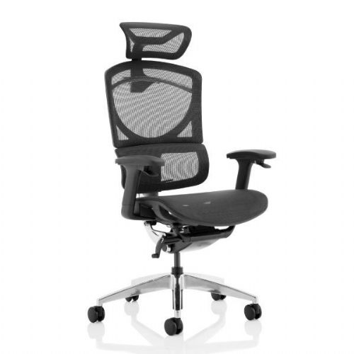 Ergo Click Plus Black Mesh Office Chair With Headrest